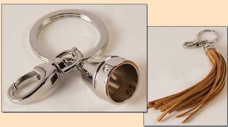 key ring tassel cap