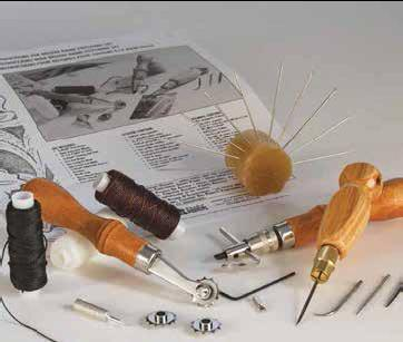 dekuxe handstitching set, leather hand sewing kit, stitching