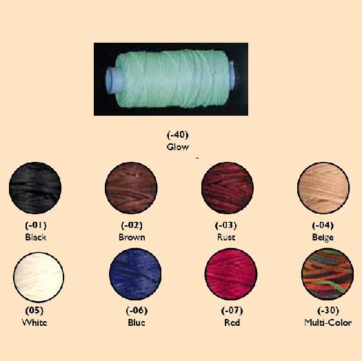 waxed braided cord for leather stitching, lacing and braiding
