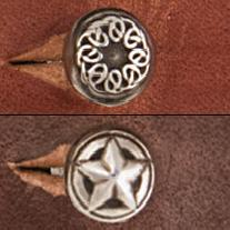 themed button studs star theme, celtic theme