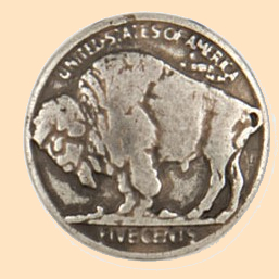 buffalo nickel button concho