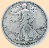 walking liberty eagle half dollar concho, leathercraft conchos, screwback conchos