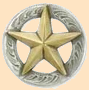 3-D Texas Star Concho,