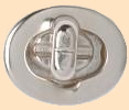 oval turnlock case clasp, bag or purse clasp