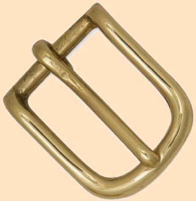 """Heel Bar Buckle Nickel Fits 1/"""" Belt 1574-22"""