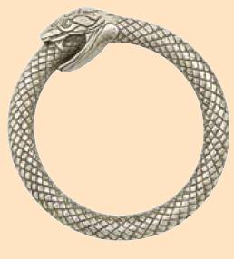 infinity snake ouroboros ring