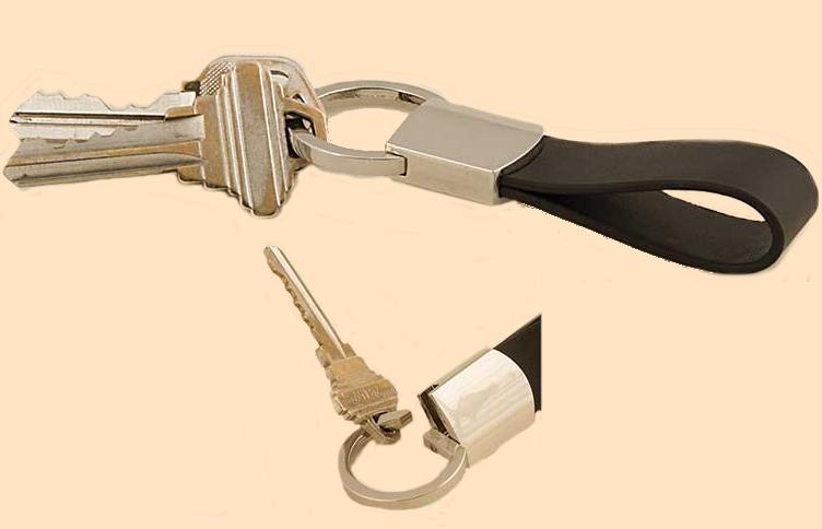 twist key ring attachment