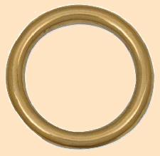 cast rings solid brass