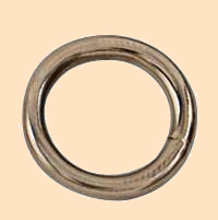 nickel plated solid rings