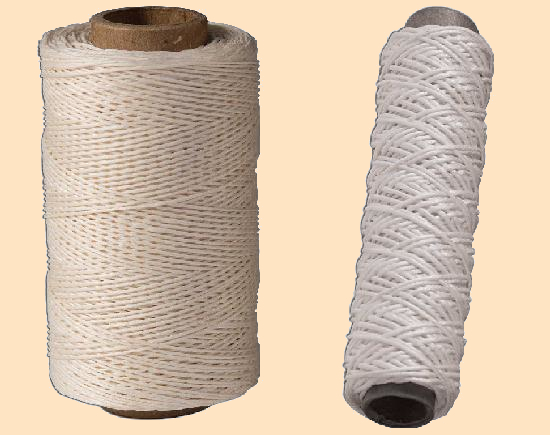 unwaxed linen thread natural thread for leather stitching