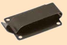 rivet on spring clip black
