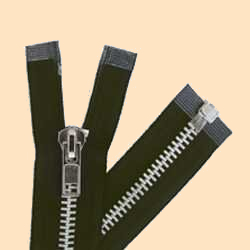 Chap Zippers, Heavy Duty Zippers, Black Zippers