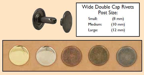 wide double cap rivets