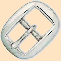 Oval Bridle Buckle 3/4