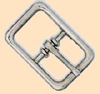 nickel plated Center Bar buckle