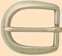 heel bar buckle solid brass