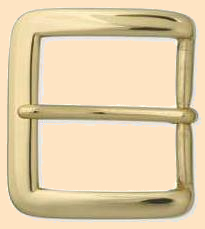 Solid Brass Heel Bar Buckle