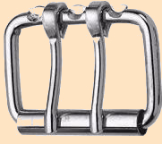 two prong roller buckle, double prong roller buckle, 2-prong roller buckles