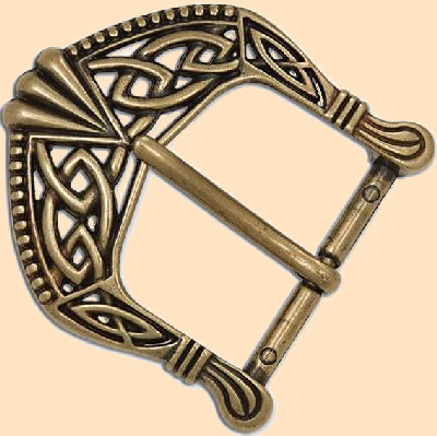 Antique Brass Plated Celtic Buckle