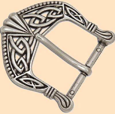 Antique Nickel Plated Celtic Buckle