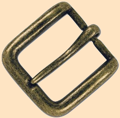 1909 Hardware Conway Buckle Antique Copper Plate, 3//4 19 mm