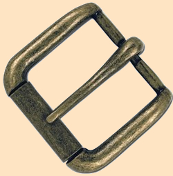 Napa Roller Buckle, antique solid brass, buckle, roller buckle