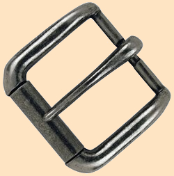 Napa Roller Buckle, antique nickel, buckle, roller buckle