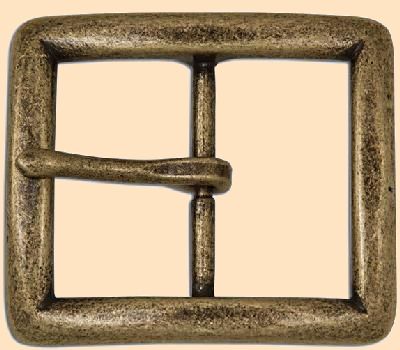Seaton Center Bar Buckle, Antique Solid Brass, belt buckle, buckle