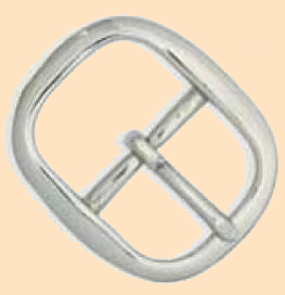 center bar buckle, center bar belt buckle                       nickel over brass