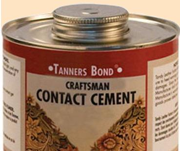 tanners bond contact cement for leatherwork