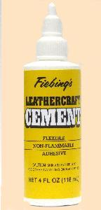 fiebing's tanners bond leathercraft cement glue for leatherwork