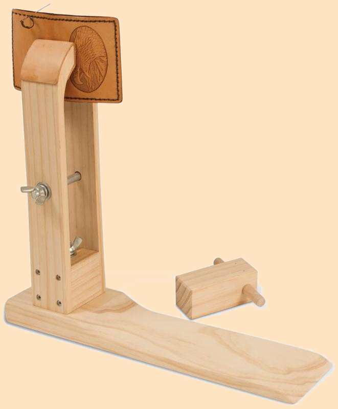 the original stitching horse, wooden stitching horse