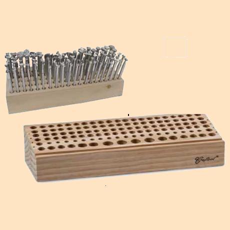 wood stamping tool rack