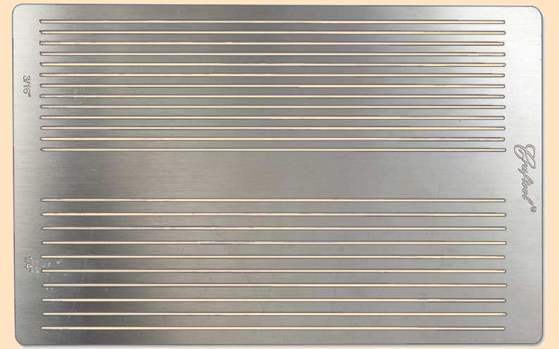 craftool stainless steel fringe cutting template