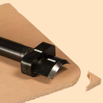 leather corner round punch
