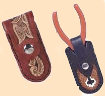 Small Folding Knife Pouch Kit,  leather knife pouch kit, leather knife case kit