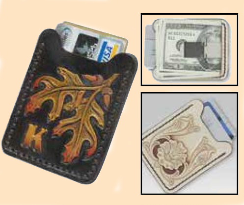 Flip Clip Card Holder Kit, leather money clip kit, leather card holder kit