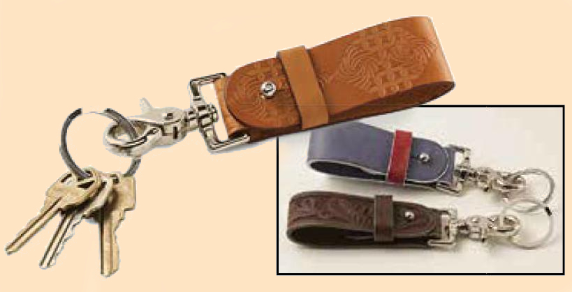 leather keychain kit