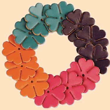 flower leather shape