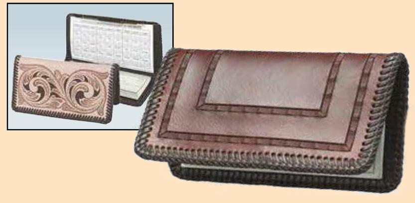 Check Book Cover Kit, checkbook, leathercraft kit, leather checkbook kit