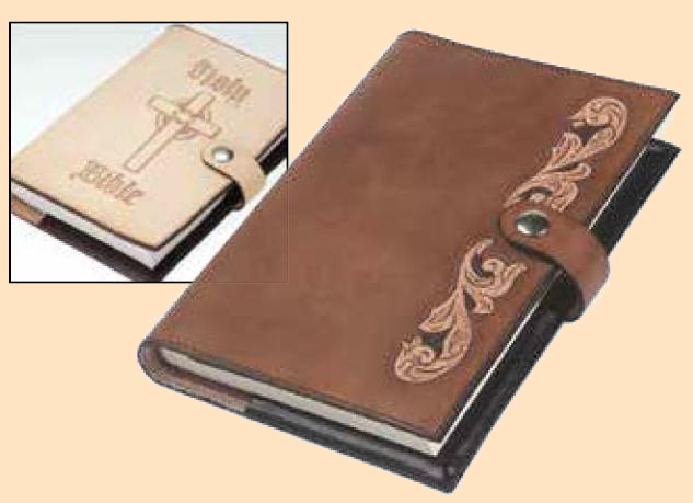 bible cover kit, leather book cover kit camp leathercraft, leathercraft camp crafts