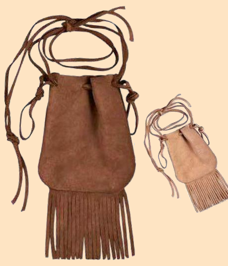 fringed bag kit, yguides, indian guide, adventure guides, wampum bag