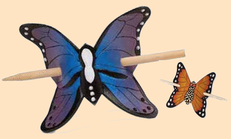 Butterfly Barrette Kit, leathercraft kit, leather barrette kit
