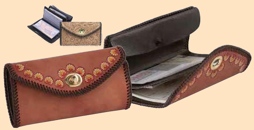 Phoenix Clutch Purse Kit, leathercraft kit, leather clutch purse kit