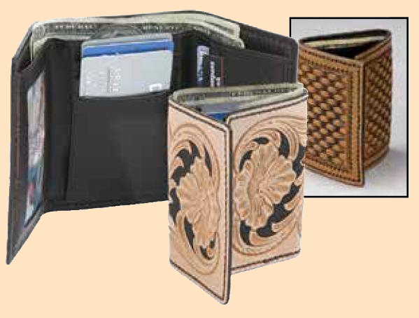 Deluxe Trifold Wallet Kit, leathercraft kit, leather wallet kit