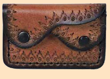 Two Pocket Coin Purse Kit, leather coin purse kit, leather kit, leathercraft kit