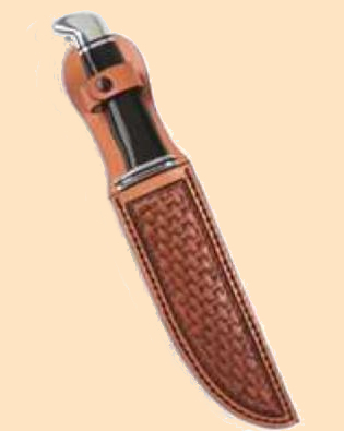 leather Knife Sheath, Leather Sheath kit, camp leathercraft, camp crafts