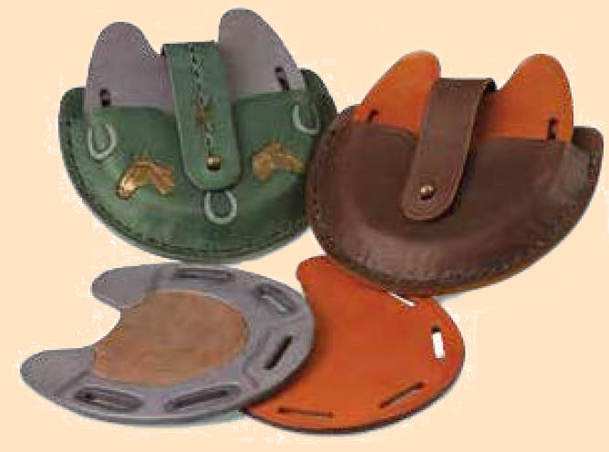 leather horseshoe coaster set kit