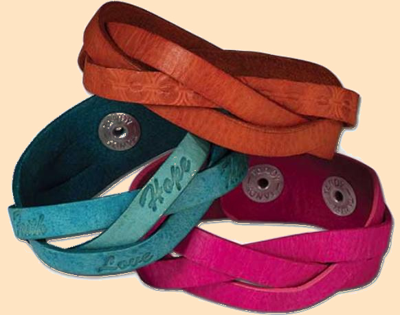 adjustable mystery braid wristbands, leather wristbands