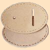 Oval Buckle Leather Cover Large